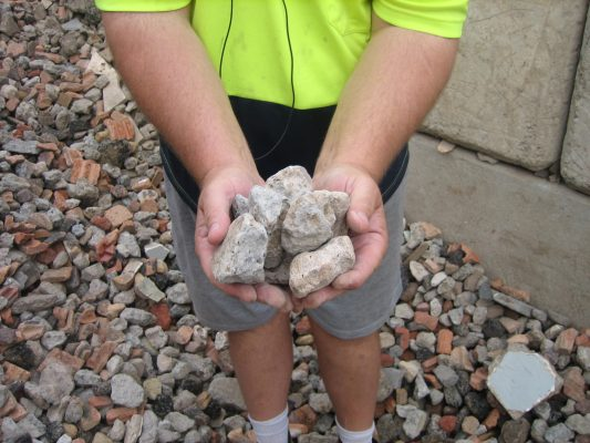 Detail of recycled Concrete Aggregate from 40 ml mix - A1 Concrete Recyclers Cambpelltown
