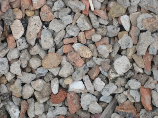 Detail of recycled Concrete Aggregate from 40 ml - 20 ml mix - A1 Concrete Recyclers Minto