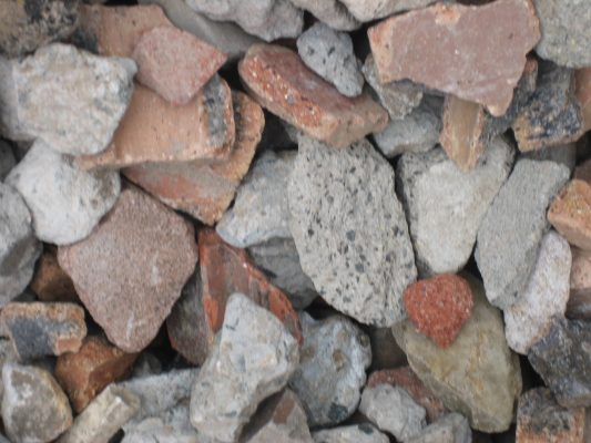 Detail of recycled Concrete Aggregate from 60 ml - 40 ml mix - A1 Concrete Recyclers Minto